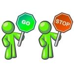Design Mascot Stop Go