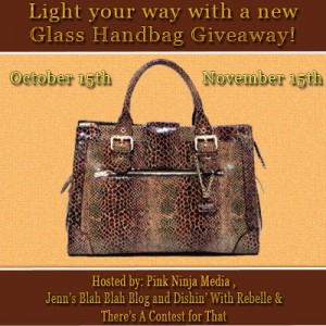 Glass Handbag Giveaway