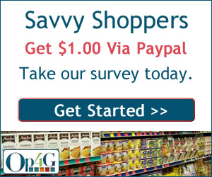 savvy shoppers get 1 dollar via paypal