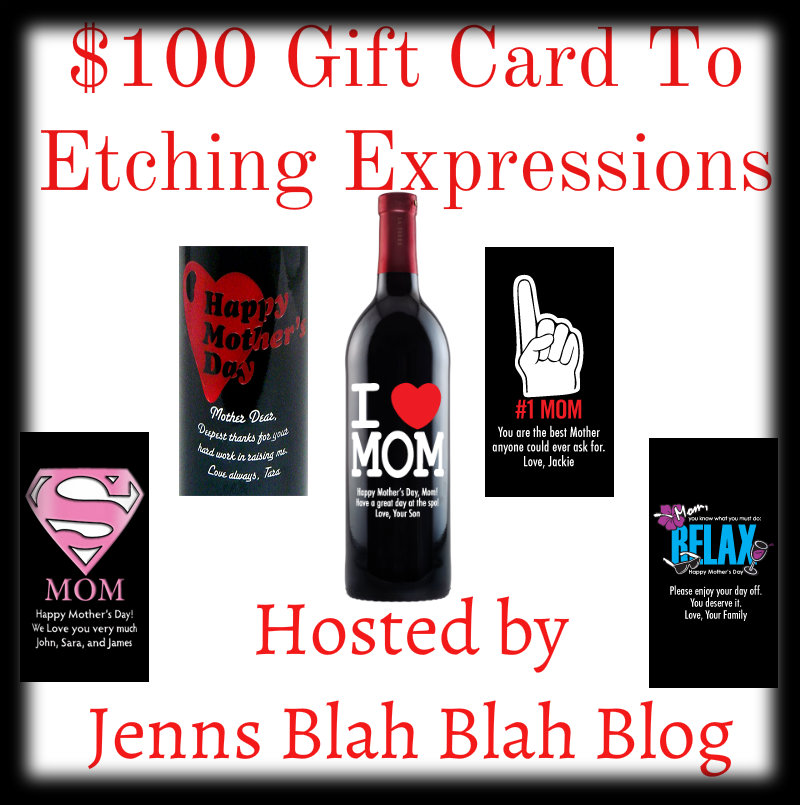 Mother's Day $100 Gift Card To Etching Expression #Giveaway