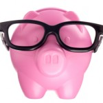 piggy bank with shades