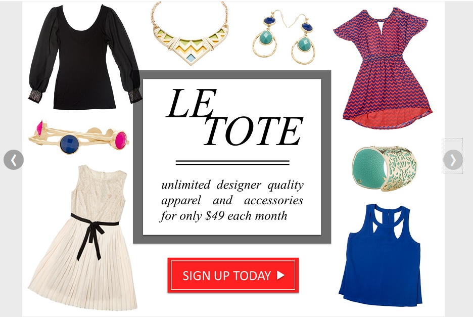 le tote clothing rental
