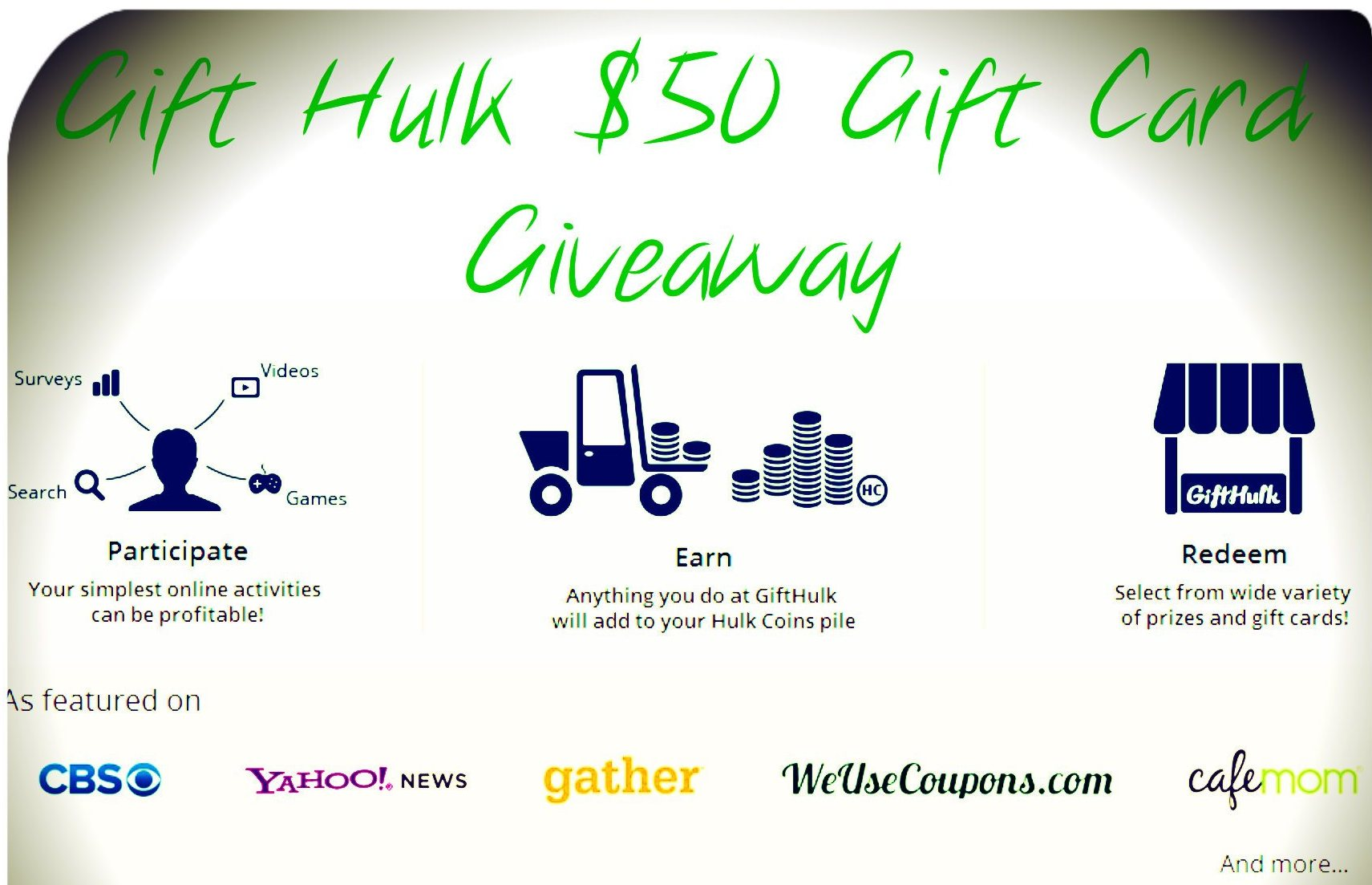 $50 GC #Giveaway From Gift Hulk