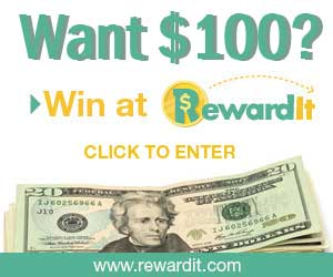 You could #win $100 weekly from RewardIt