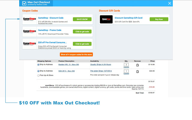 Max Out Checkout4