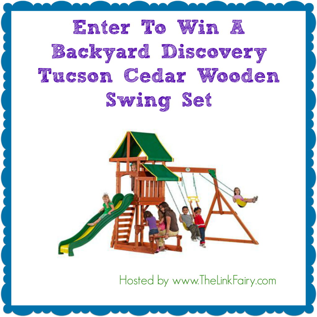 Enter to win a wooden swing set at TheLinkFairy.com !