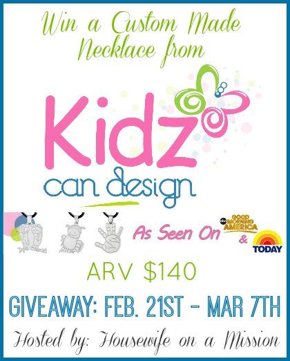 KidzCanDesign Giveaway