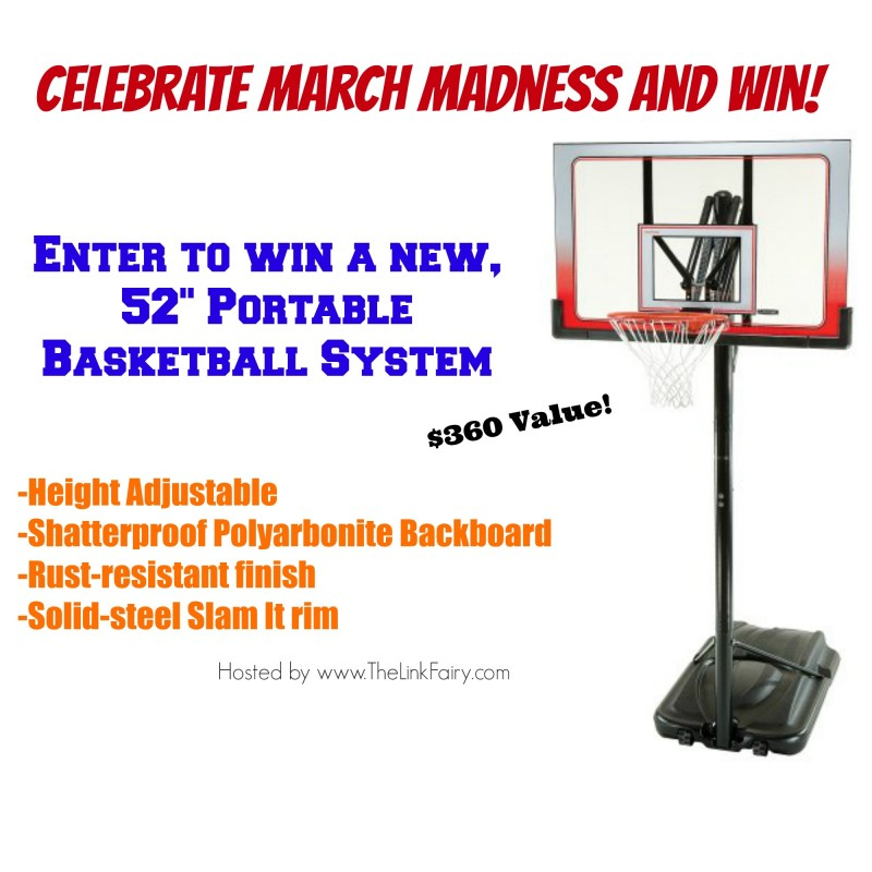 Enter to win a new 52in Portable Basketball System at TheLinkFairy.com !