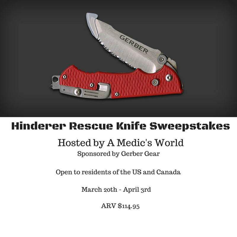 Hinderer Rescue Knife Sweepstakes