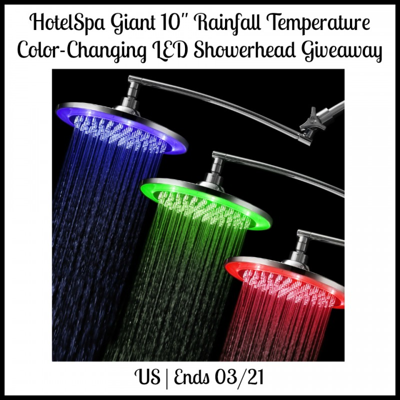 Enter the HotelSpa Showerhead Giveaway. Ends 3/21