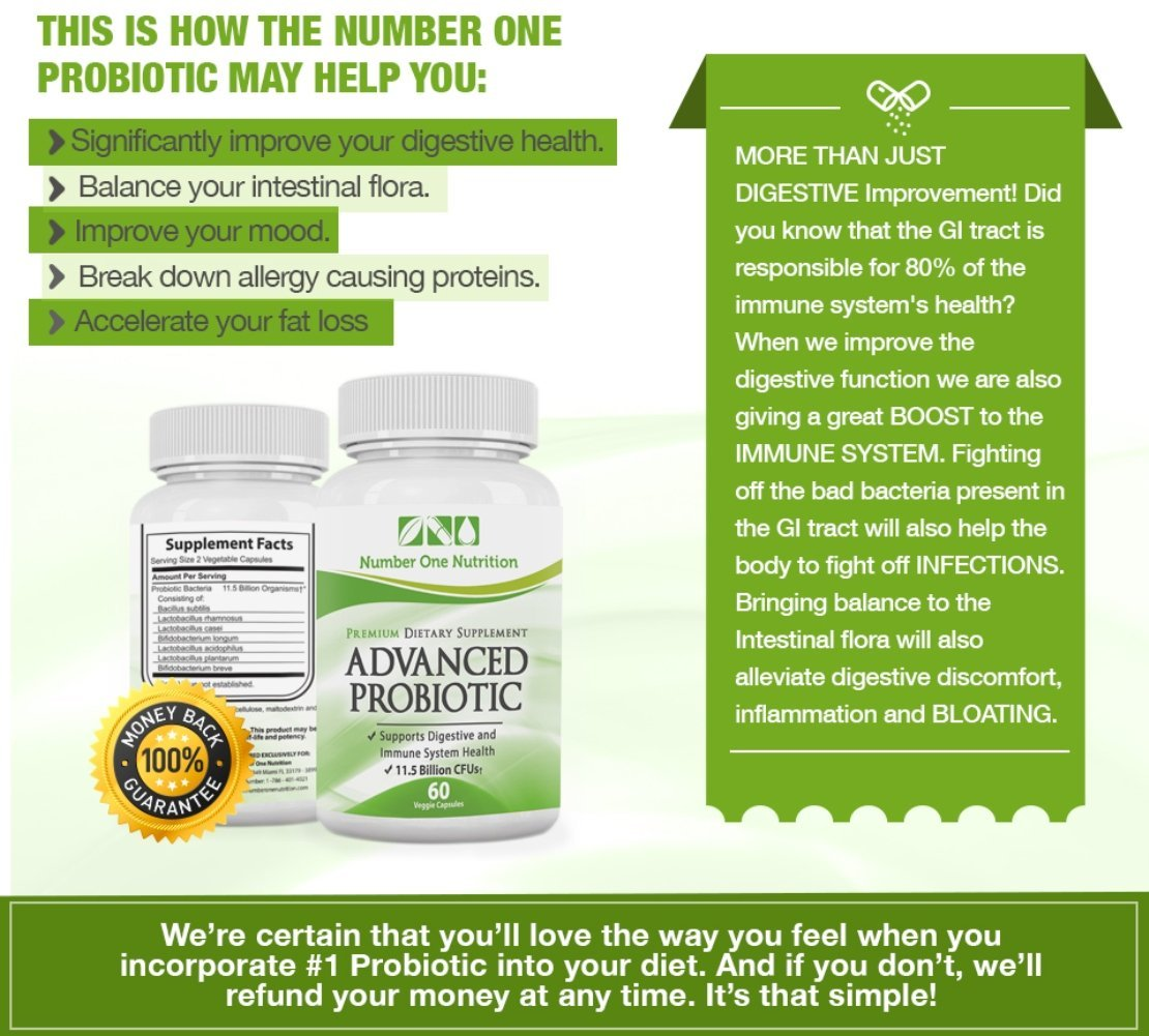 Advanced Probiotic from Number One Nutrition