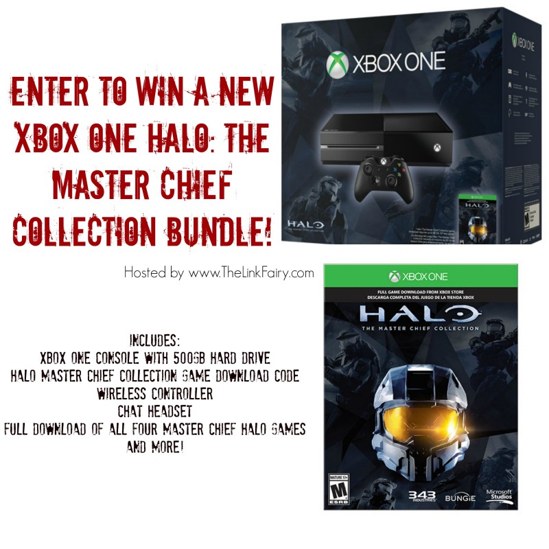 Enter to win a new XBOX ONE Halo The Master Chief Collection Bundle at TheLinkFairy.com!