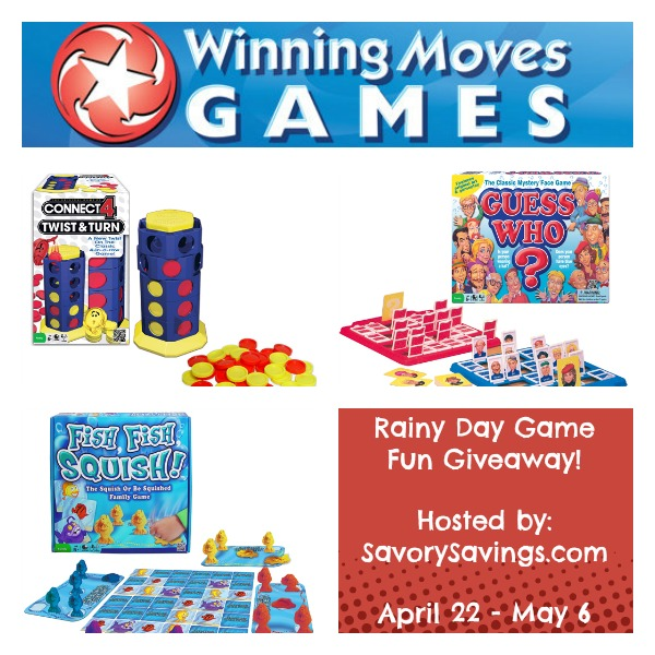 Winning Moves Rainy Day Game Giveaway April 22 - May 6