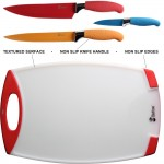 Chefcoo™ Cutting Plastic Board Plus Non-stick Knives Set Review #ChefcooBoard