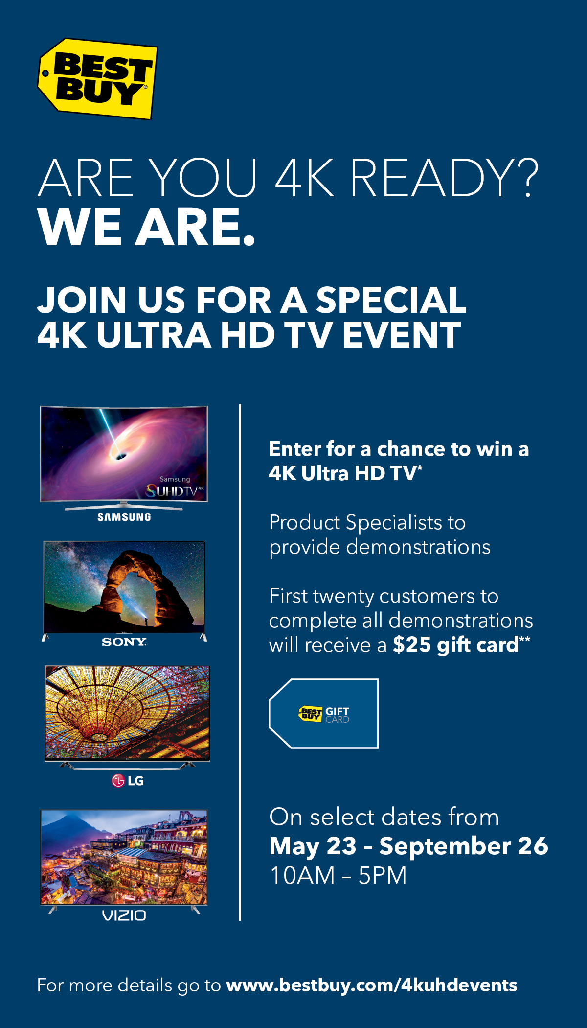 4K Ultra HD In-store Events Happening Now at Best Buy