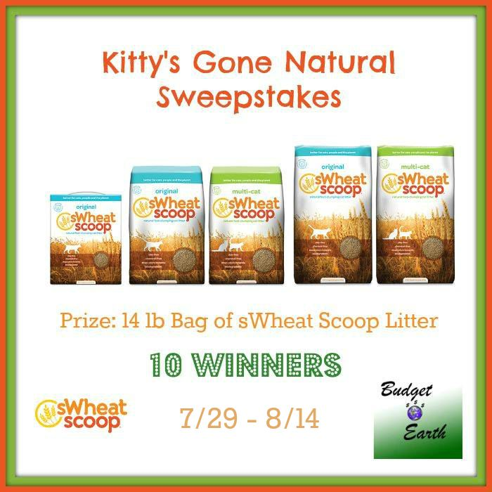 Kitty's Gone Natural Sweepstakes {10 WINNERS | US | Ends 08/14}