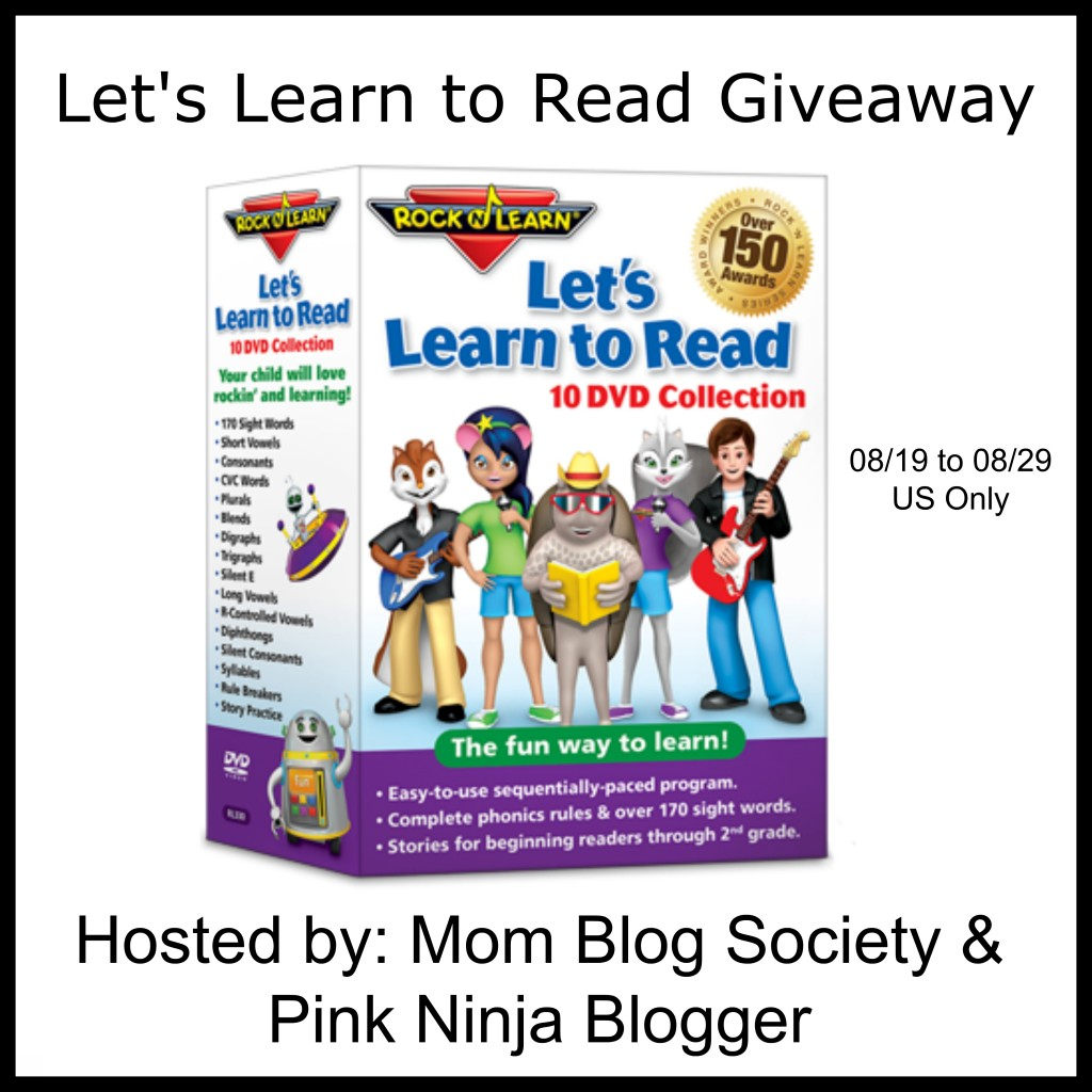 Want to make reading fun for kids? Enter to win a Let's Learn to Read 10 DVD Collection from Rock 'N Learn (RV $129.95) here!