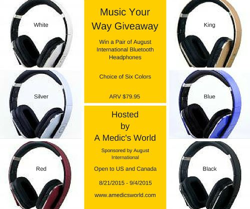 August International Bluetooth Headphones Giveaway