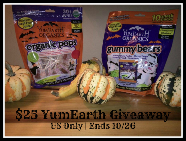 YumEarth $25 #TreatsNotTricks Giveaway {US | Ends 10/26}