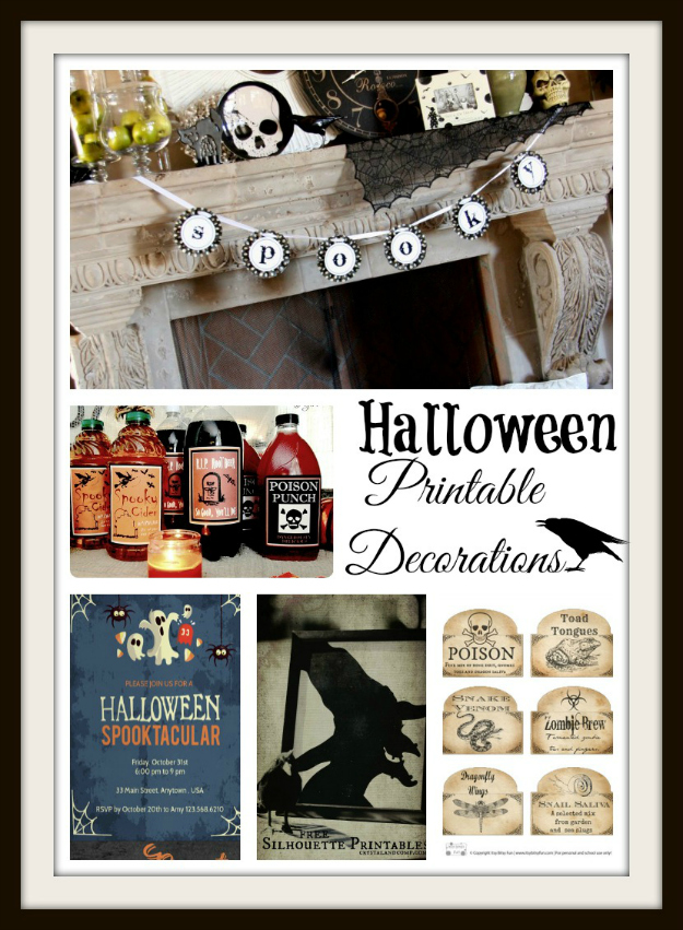 printable halloween decor