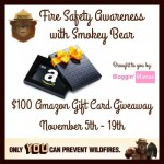 Fire Safety Awareness $100 Amazon Gift Card Giveaway {US | Ends 11/19}