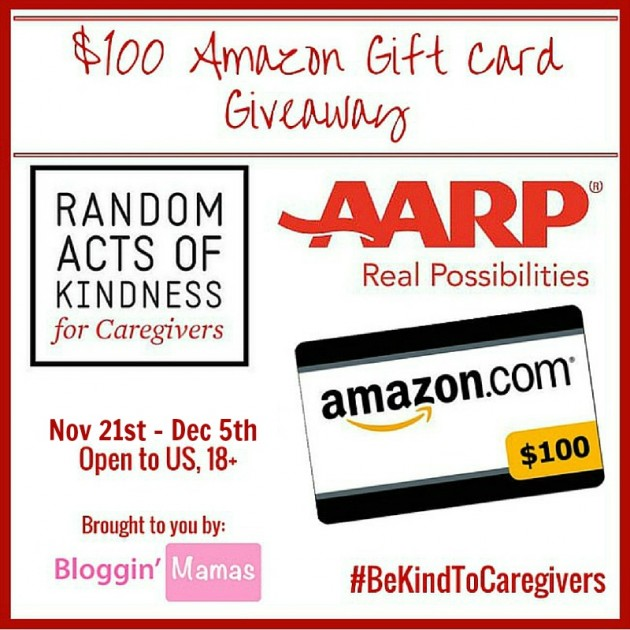 AARP Random Acts of Kindness ~ $100 Amazon Gift Card Giveaway {US | Ends 12/05}