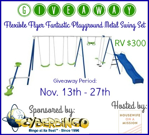 Flexible Flyer Swing Set giveaway