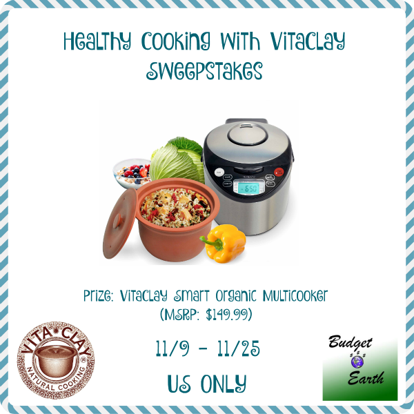 Healthy Cooking with Vitaclay sweepstakes