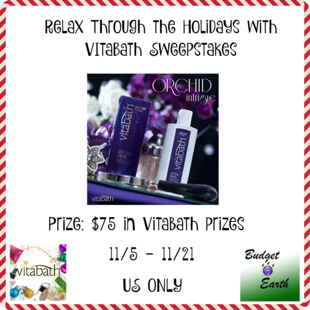 Relax Through the Holidays with Vitabath Sweepstakes