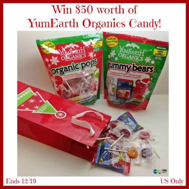 $50 YumEarth Organics Candy Giveaway {US | Ends 12/19}