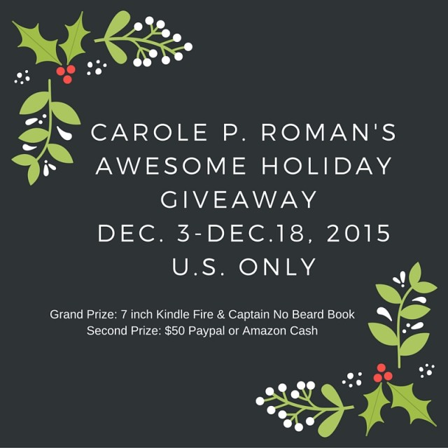 Carole Roman & Michael Cash Holiday Giveaway Sign up!