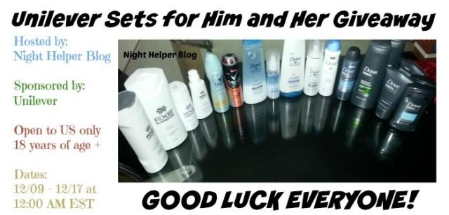 Night Helper Unilever Giveaway
