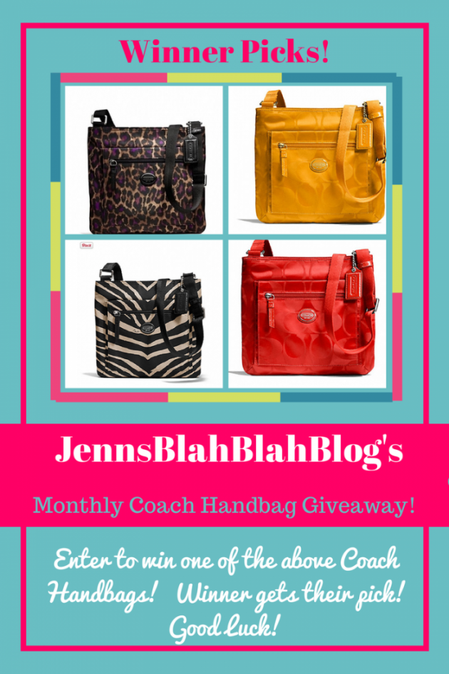 Coach Handbag Fan Appreciation Giveaway {WW | Ends 02/13}