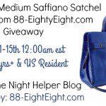 Katie Cobalt Medium Saffiano Satchel~88-EightyEight.com #Giveaway {US | Ends 02/14}
