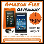 Amazon Fire Giveaway {5 WINNERS |US | Ends 03/04}
