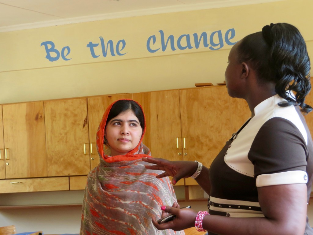 HE NAMED ME MALALA: Malala Yousafzai at the Kisaruni Girls School in Massai Mara, Kenya. May 26, 2014. Photo courtesy of Fox Searchlight Pictures.© 2015 Twentieth Century Fox Film Corporation All Rights Reserved
