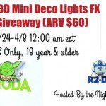 Star Wars 3D Mini Deco Lights FX Set of 5 Giveaway {US | Ends 04/07}