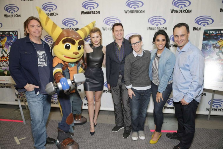 Bella-Thorne-and cast-Ratchet-and-Clank-WonderCon-2016-in-Los-Angeles-08
