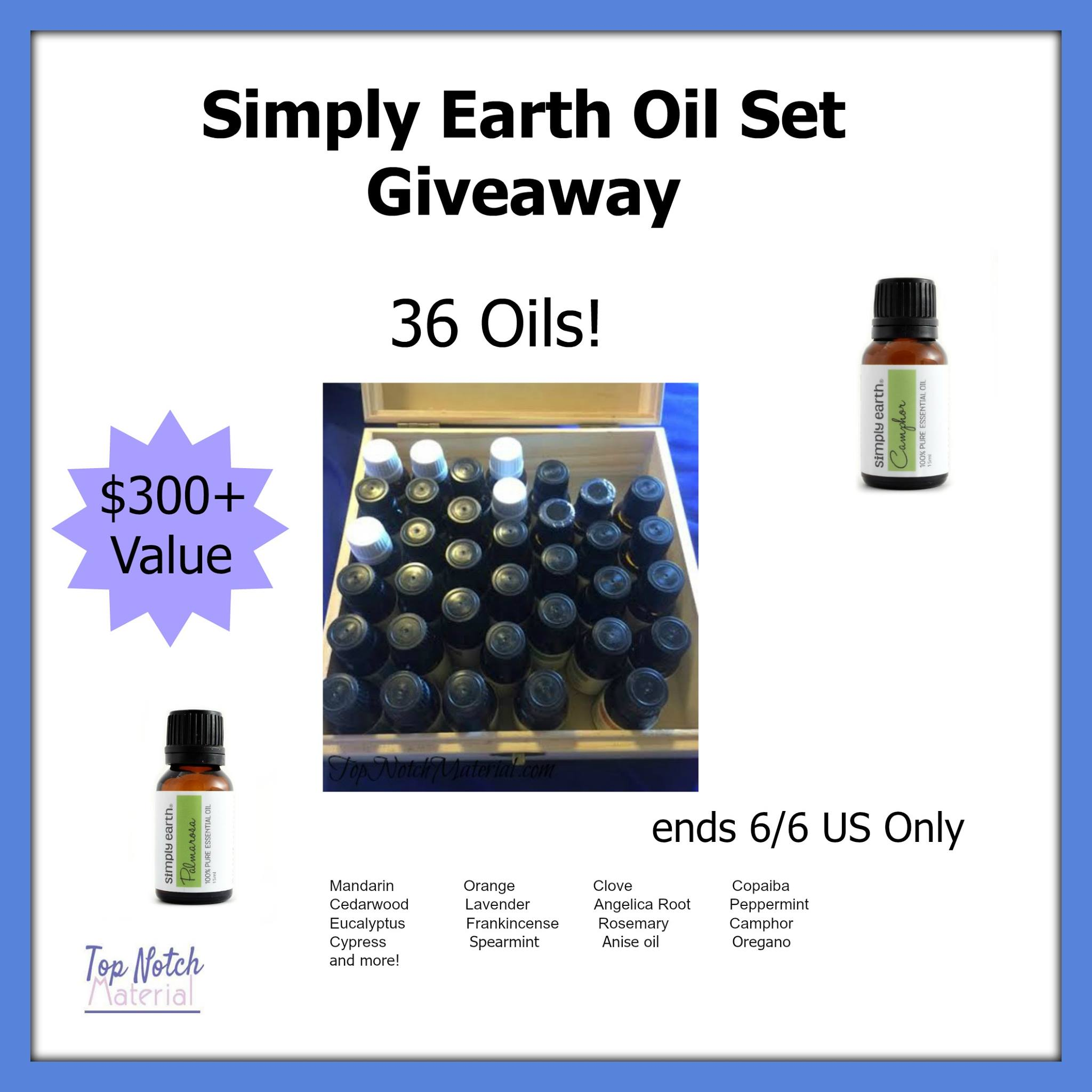 Simply Earth 36 Essential Oil Set Giveaway {US | Ends 06/06}