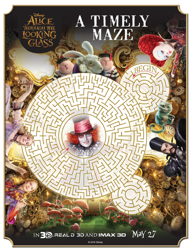 ALICE THROUGH THE LOOKING GLASS – Coloring Sheets & New Clips!! #ThroughTheLookingGlass