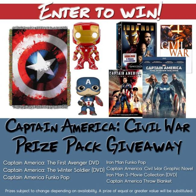 Captain America Giveaway Button