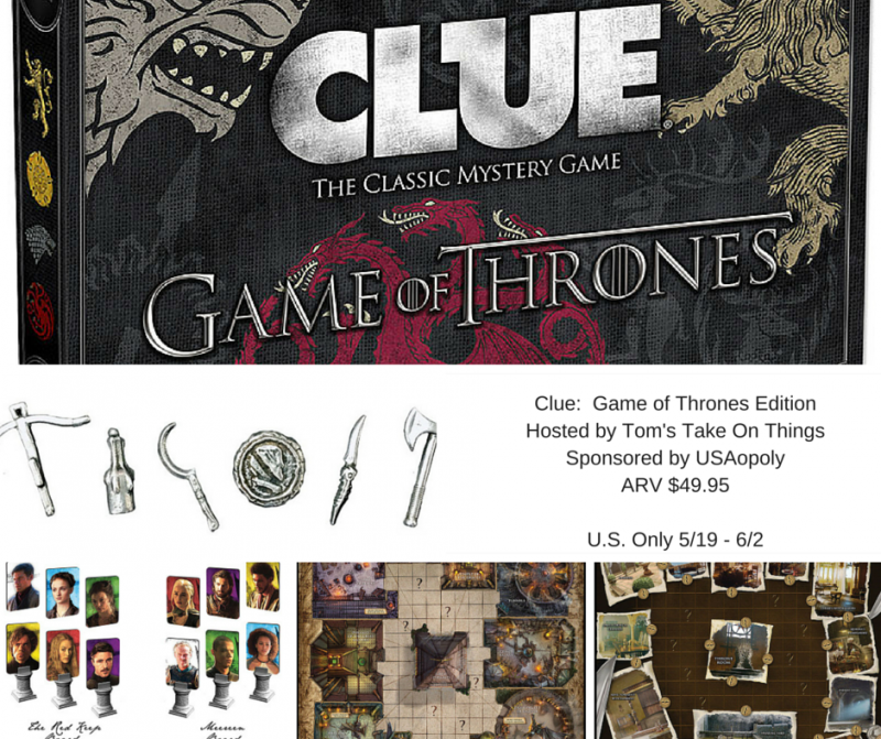 Clue: Game of Thrones Edition Giveaway {US | Ends 06/02}