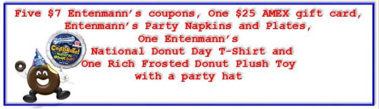 Entenmann's Donut Day Prize Pack w/ $25 AMEX GC Giveaway {US | Ends 05/30}