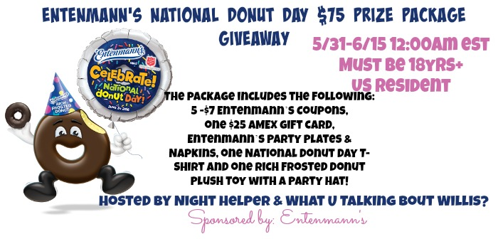 Entenmann's NATIONAL DONUT DAY $75 Prize Package Giveaway {US | Ends 06/14}