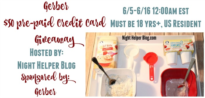 $50 Pre-Paid Credit Card #CookingwithGerberGiveaway {US | Ends 06/15}