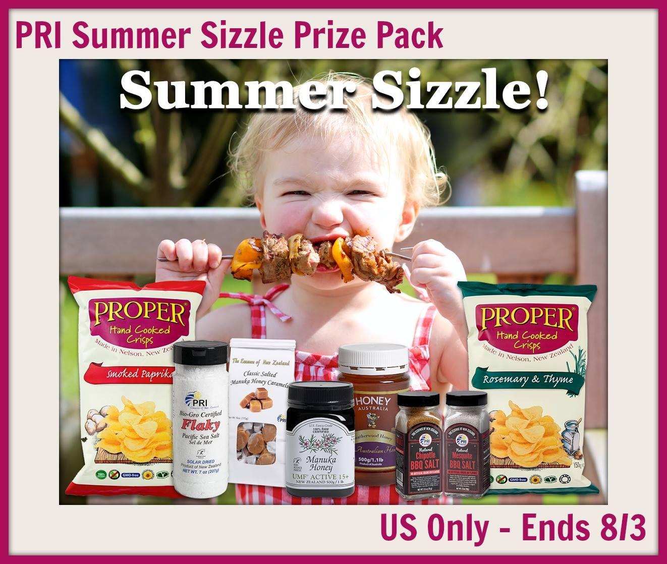 PRI Summer Sizzle Food Prize Pack Giveaway {US | Ends 08/03}