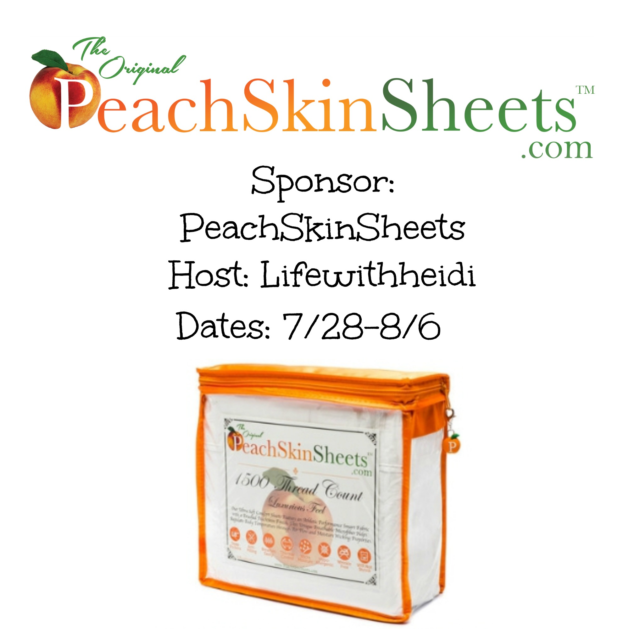 PeachSkinSheets Giveaway {US | Ends 08/05}