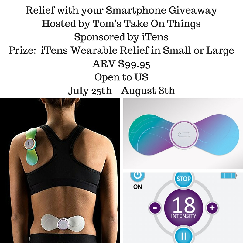 iTens Wearable Relief Giveaway