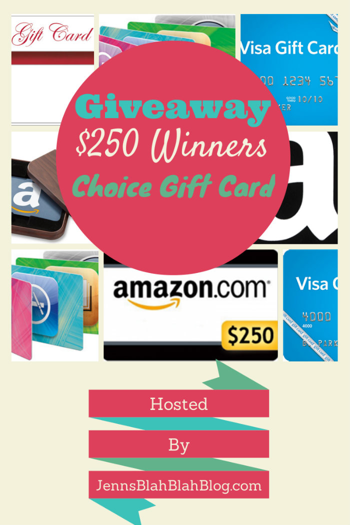 $250 Winners Choice Gift Card Giveaway {WW | Ends 11/05}