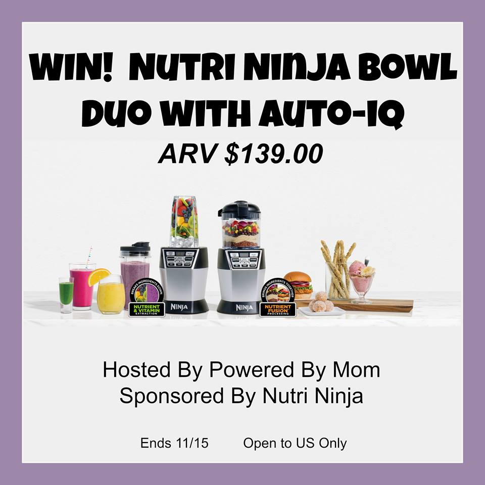 Nutri Ninja Bowl Duo Giveaway {US | Ends 11/15}